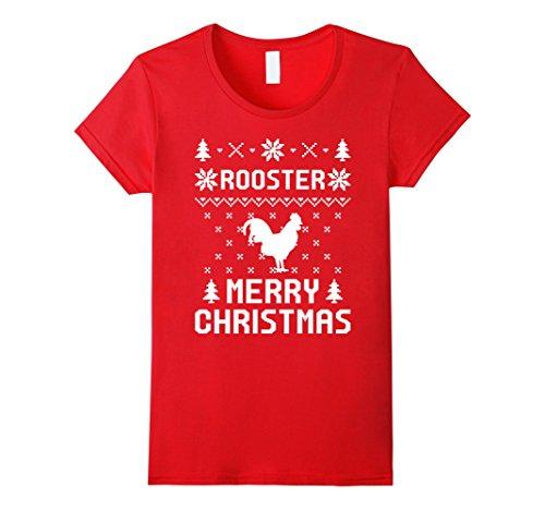 [Womens Roadrunner Christmas T-shirt, Ugly Christmas Sweater T-shirt XL Red] (Female Roadrunner Costume)