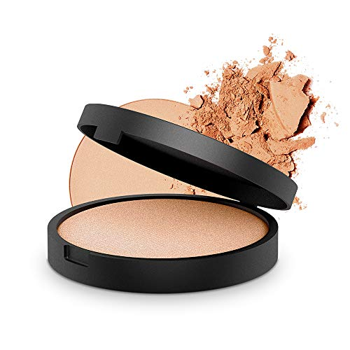 INIKA Baked Mineral Illuminisor, All Natural Make-up Highlighter Powder, Sheer Coverage, Silky Finish, Vegan, Hypoallergenic, Dermatologist Tested, Halal, 8g (0.28 oz) Dewdrop