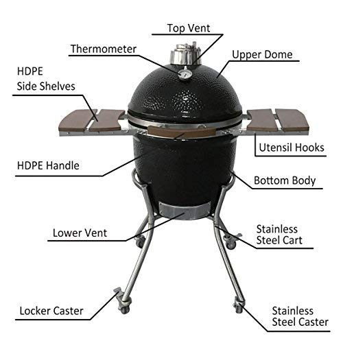 Buy ceramic charcoal grill