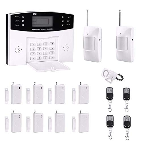 AG-Security Home Security System Professional Wireless GSM Remote Control Intelligent LED Display Voice Prompt Wireless Burglar Alarm House Business Auto Dial Outdoor Siren