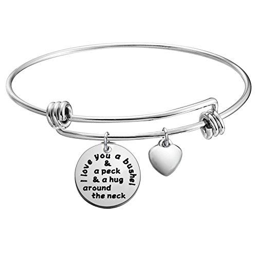 KUIYAI I Love You a Bushel and a Peck Bracelet Mom Grandma Bracelet (Silver) by KUIYAI (Image #4)'