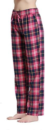 CYZ Women's 100% Cotton Super Soft Flannel Plaid Pajama/Louge Pants-F16