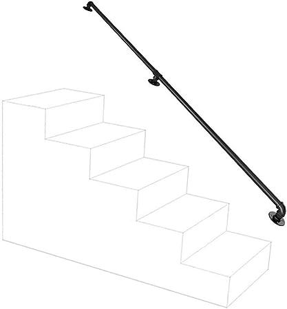 6 ~ 20 pies Pasamanos - Kit completo.Hierro forjado escalera Pasamanos antideslizante barandilla Carril de toalla, barra de colgar, Caja carril de la ayuda for el baño Balcón, escaleras o parapeto lei:
