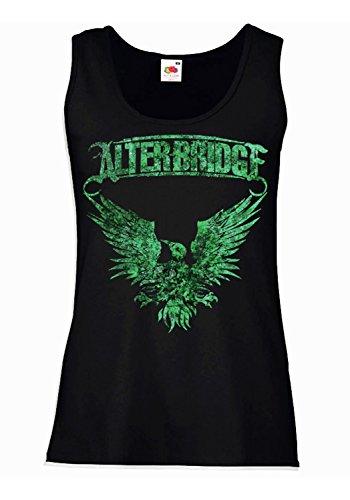 "Camiseta de tirantes mujer ""Alter Bridge"" green texture - 100% algodòn LaMAGLIERIA"
