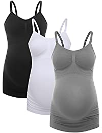 Ultra Soft Pregnant Seamless Maternity & Nursing Cami Tank Top with Pads