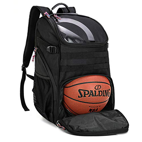 TRAILKICKER 35L Basketball Backpack, Sports Backpack for Soccer, Gym, Football & Volleyball with Ball Compartment, Laptop Compartment and Attachable Shoe Bag
