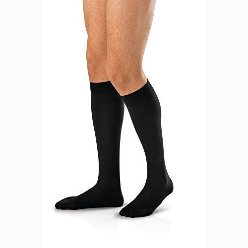 JOBST forMen Knee High 30-40 mmHg Ribbed Dress Compression Socks, Closed Toe, Medium, Khaki