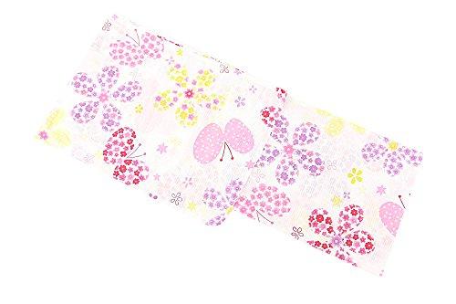 展開する階余計な新柄 女浴衣 キスミス ブランド浴衣 白 花 蝶 フラワー Xmiss 可愛い レディース 検針済