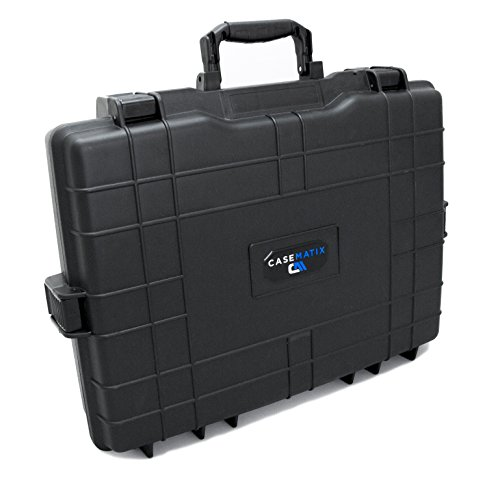 CASEMATIX Elite Gaming Laptop Case Ultimate Protection for Traveling with 15.6 - 17.2 Gaming Computers and Accessories for Alienware, Asus, Razer, Lenovo, MSI, Acer, Keyboards, Mice