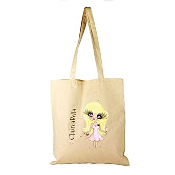 3e8b5c63dd3f52 ClaireaBella Personalised Canvas Bag: Amazon.co.uk: Clothing