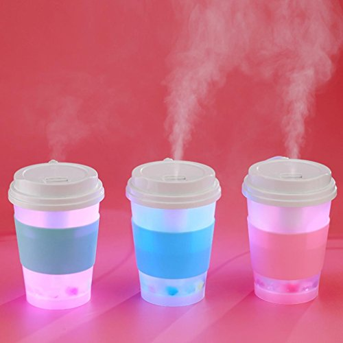 Coerni 300ml Cute Milk Cups USB LED Glowing Humidifier Essential Oil Diffuser for Car, Office, Home (Green) by Coerni (Image #7)