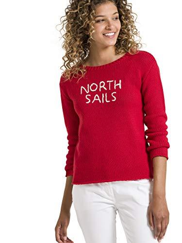 Xs A Lana Lunghe Maniche Donna In Rosso Maglione Misto Sails North Pompeiano RwPqF4q