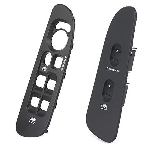 Window Switch Bezel for Dodge Ram Driver Passenger Side Window Switch Panel Trim Cover Door Lock Panel