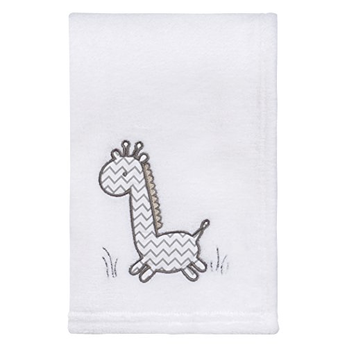 giraffe safari plush baby blanket