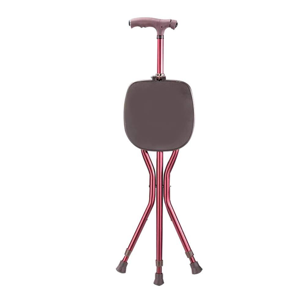 Walker, Foldable Cane, Three-Legged Cane Chair, Elderly Rehabilitation Training Walker Assisted Walking (Color : C)