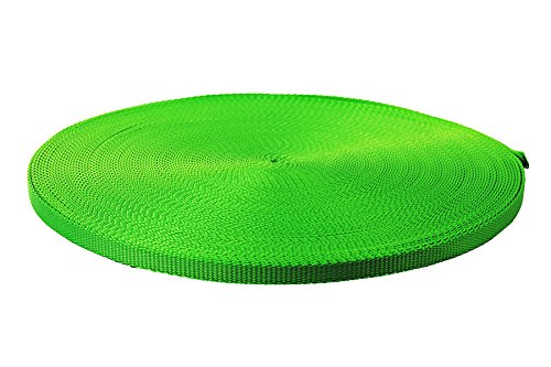 Neon Green Heavy Nylon Webbing