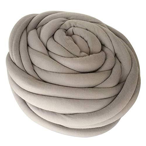 (Zituop Super Soft Chunky Bulky Yarn Washable Merino Wool Alternative Yarn for Arm Knitting Hand Knitting Crochet Blanket Rugs, 1Lb-20M, Light Grey)