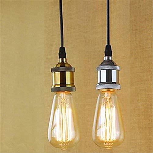 E26/E27 Lamp Socket Vintage Light Holder Classic Retro Lamp Holder Industrial Bulb for Office Living Room Bedroom 1pcs (Color : Silver)