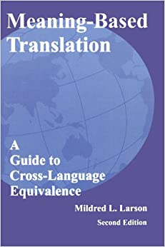 Book Meaning-Based Translation: A Guide to Cross-Language Equivalence, 2nd edition