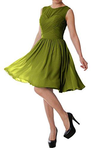 MACloth - Robe - Trapèze - Sans Manche - Femme -  Vert - 42