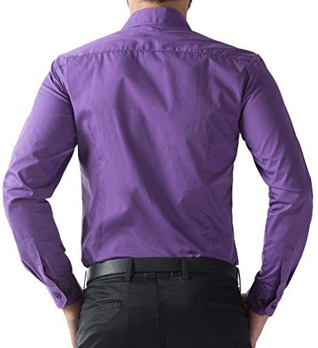 Style À Homme Gd5252 Paul Violet Décontracté Jones® Chemise Longues Manches Pour Coupe Ajustée tpqvS