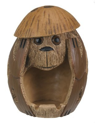 Hear No Evil Coconut Monkey Collectible Figurine ()