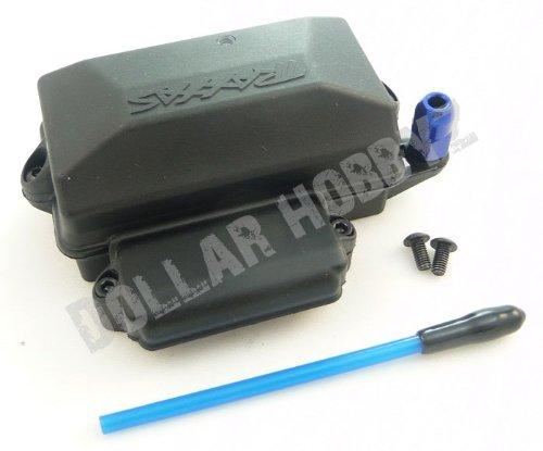 Traxxas 1/10 Slash 2WD VXL * WATERPROOF RECEIVER BOX, ANTENNAE TUBE & NUT * Cap ()
