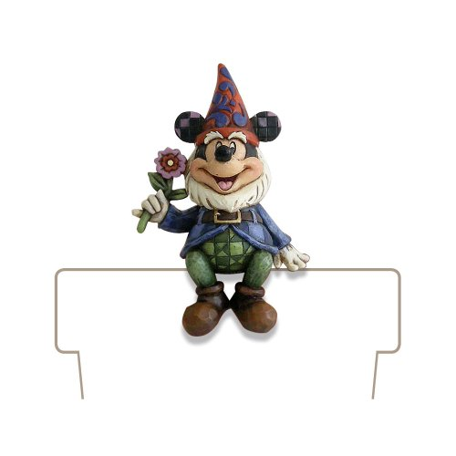 Enesco Disney Traditions Designed by Jim Shore Mickey Gnome Planter Adornment 3.75 in (Plant Shore Jim Disney)