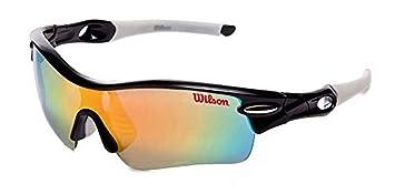 Wilson por American visión gafas negro intercambiables lentes polarizadas efecto espejo