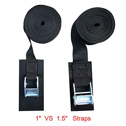 Alfa Gear 15FT TIE Down Straps for Kayak, Boat 2 PCS/Set 1.5 inch Width