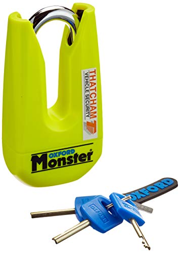 Oxford Monster Disc Lock Geel-Verkocht Secure Gold OF36M