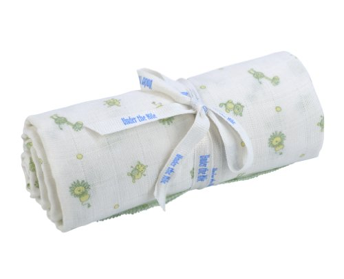 Cotton Nile Under The Blankets - Under The Nile Organic Egyptian Muslin Swaddle Blanket Animal Print 45 x 45