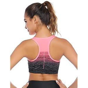 Sykooria Reggiseno a Impatto Reggiseno Sportivo, Reggiseno da Allenamento per Donna Reggiseno Imbottito per Reggiseno Imbottito Sportivo Senza Spalline ad Alto Impatto per Ginnastica Yoga