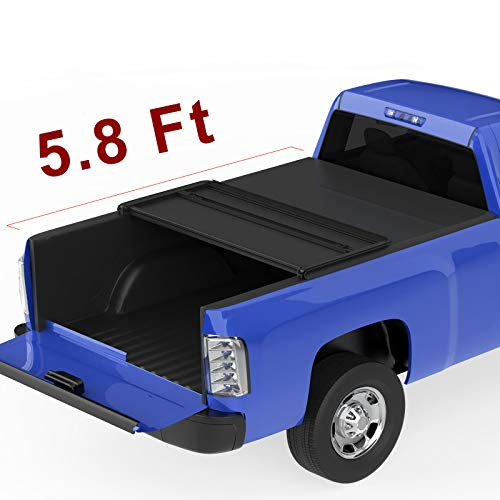 - oEdRo TRI-FOLD Truck Bed Tonneau Cover Compatible with 2014-2019 Chevy Silverado/GMC Sierra 1500 (2019 Only Fits Classic or Legendary)   Fleetside 5.8 Feet Bed