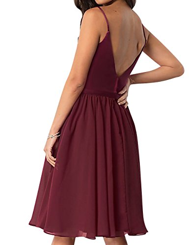 Chiffon Homecoming Violet Neck Spaghetti Dresses Backless A Short Dress ASBridal Line V Prom 56Wwqf5E
