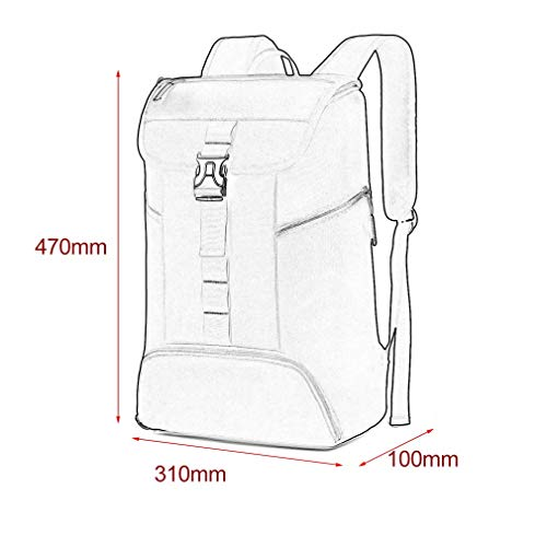 Sunnyday Canvas Casual Bucket Bag School Students Black Backpack Unisex Water Fashionable Repellent Sports ZaYqavwr