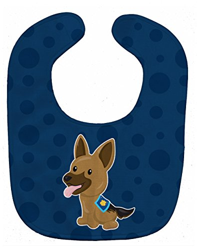 Caroline's Treasures Baby Bib, Police German Shepherd, Large