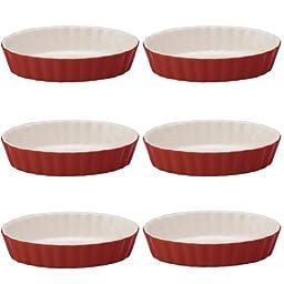 Mrs. Anderson\'s Baking Ceramic Oval Creme Brulee, Set of 6, Rose