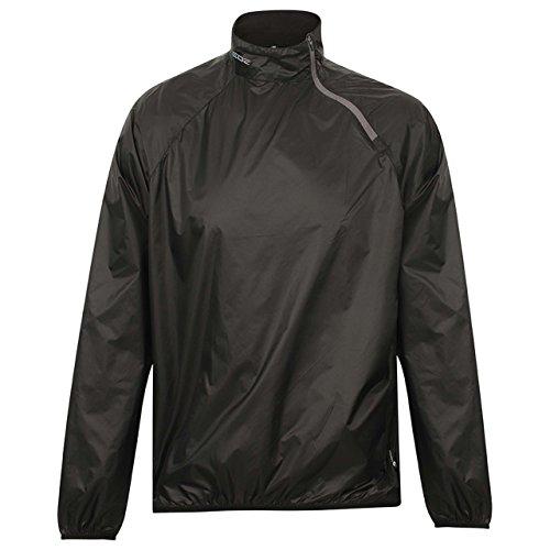 EDZ Innershell Windproof Jacket Black with Grey Zip