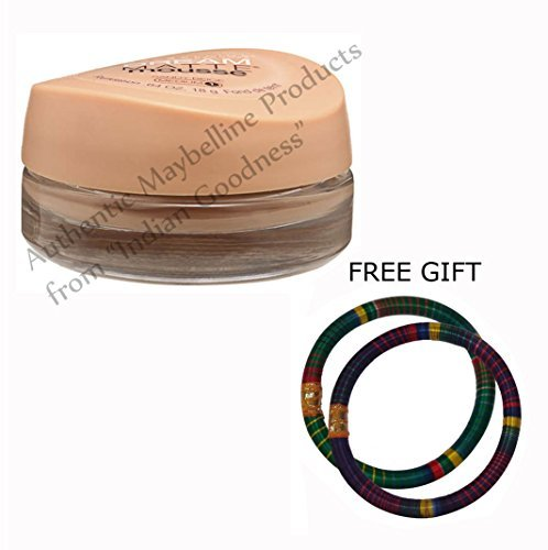 Maybelline Dream Matte Mousse Foundation Sandy Beige Medium 1 18 GM - With FREE GIFT (Pair of Multicolor Bangles) and FREE SHIPPING