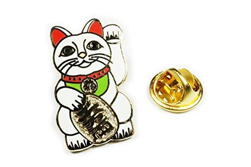 (Maneki Neko Lucky Cat Japanese Talisman Jacket Hat Vest Suit Tie Lapel Pin)
