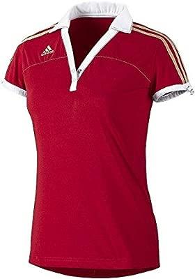 adidas Alemania Mujeres Polo University Red, Rojo, Extra-Small ...