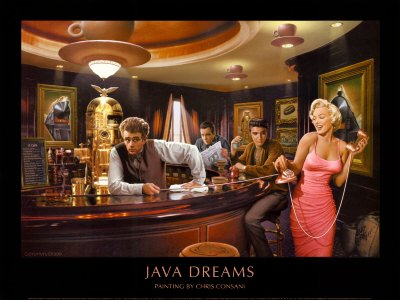 Java Dreams   Poster By Chris Consani  32 X 24