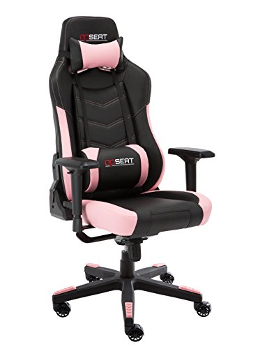 OPSEAT Grandmaster Series 2018 Computer Gaming Chair Racing Seat PC Gaming Desk Office Chair - Pink