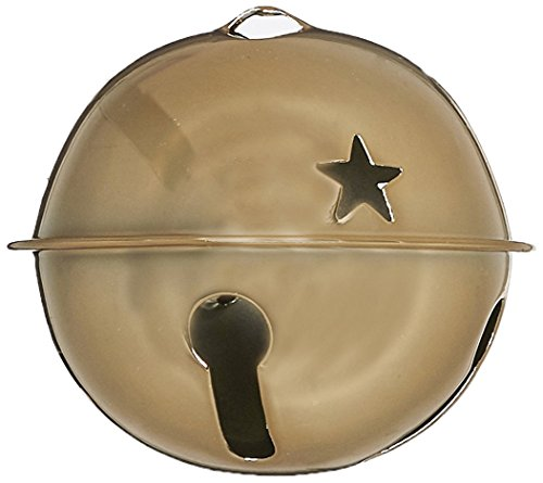 Darice 1 Piece Gold Jingle Bell with Star Cutouts -