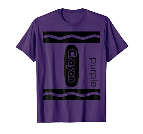 Mens Purple Crayon Halloween Couple Friend Group Costume T-shirt 3XL Purple -