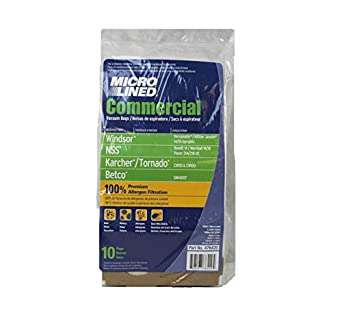 Windsor 8.600046.0 Vacuum Bags Pack Of 10 Aftermarket ...