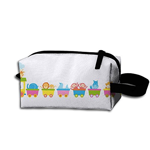 Makeup Cosmetic Bag Cartoon Animals Zip Travel Portable Storage Pouch For Men Women by Huayaa