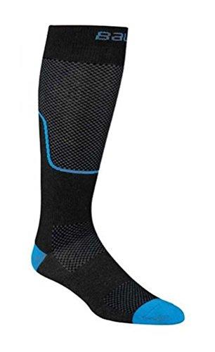 Performance Hockey Skate (Bauer Premium Performance Tall Hockey Skate Socks, Black/Royal Blue.)
