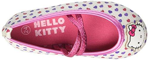 Hello Kitty S15861haz - Patucos de Lona para niña Bianco